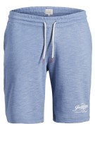 Jack & Jones Plus Size sweatshorts melange blauw