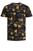 Jack & Jones Plus Size t-shirt o-hals print zwart