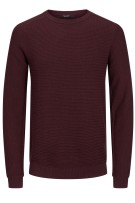 Jack & Jones Plus Size trui bordeaux gebreid ronde hals