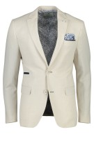 Jackett & Sons Colbert Beige Structuur Slim fit