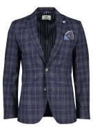 Jackett & Sons Colbert Donkerblauw Geruit Normale fit