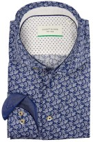 Jackett & Sons Overhemd Blauw Print Slim fit