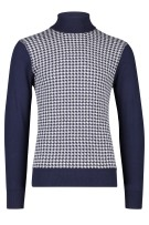 Jackett & Sons Trui Donkerblauw Print Normale fit