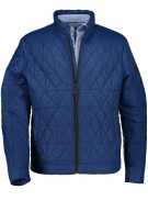 Jas State of Art blauw korte lengte regular fit