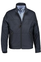 Jas State of Art donkerblauw met  rits regular fit