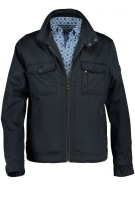 Jas State of Art navy kort model regular fit