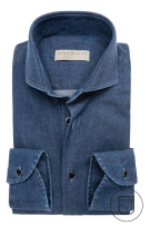 John Miller denim shirt blauw modern fit