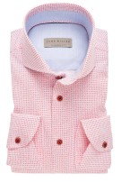 John Miller overhemd print roze Tailored Fit