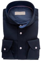 John Miller overhemd Tailored Fit ml 7 donkerblauw