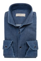 John Miller shirt denim blauw tailored fit