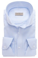 John Miller Tailored Fit shirt streepje lichtblauw
