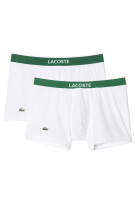 Lacoste boxershort wit groene band 2-pack