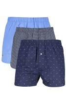 Lacoste boxershorts 3-pack print blauw