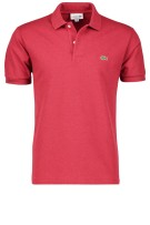 Lacoste Polo Shirt Rood Effen Wijde fit