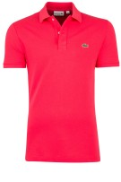 Lacoste Polo Shirt Roze Effen Slim fit