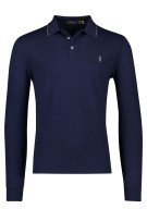 Lange mouwen polo navy Ralph Lauren Slim Fit