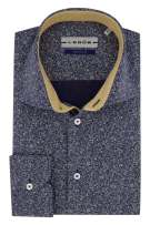 Ledub overhemd donkerblauw Tailored Fit