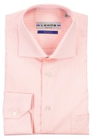 Ledub overhemd roze strijkvrij Tailored fit sleeve 7