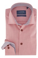 Ledub overhemd Tailored Fit rood/roze