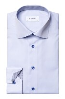 Lichtblauw shirt Eton Contemporary Fit