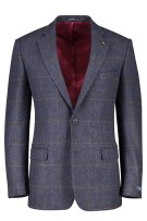 Magee colbert Nice classic fit blok blauw