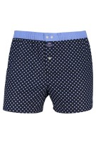 Mc Alson Boxershort Donkerblauw Blauw Print Normale fit