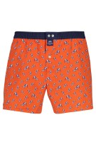 Mc Alson Boxershort Donkerblauw Oranje Print Normale fit