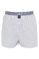 Mc Alson Boxershort Donkerblauw Wit Geruit Normale fit