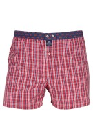 Mc Alson Boxershort Rood Donkerblauw Blauw Geruit Normale fit