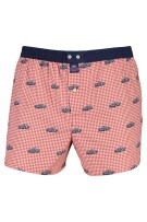 Mc Alson Boxershort Rood Donkerblauw Geruit Print Normale fit