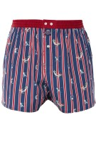 Mc Alson Boxershort Rood Donkerblauw Gestreept Print Normale fit