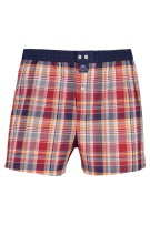 Mc Alson Boxershort Rood Donkerblauw Oranje Geruit Normale fit