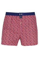 Mc Alson Boxershort Rood Donkerblauw Print Normale fit