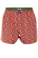 Mc Alson Boxershort Rood Oranje Print Normale fit