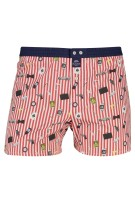Mc Alson Boxershort Rood Wit Gestreept Print Normale fit