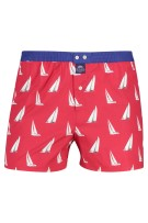 Mc Alson Boxershort Rood Wit Print Normale fit