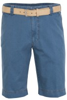 Meyer B-Palma Short Blauw Effen Normale fit