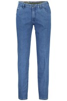 Meyer jeans 5-pocket blauw riem Superstretch