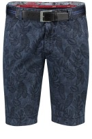 Meyer Short Donkerblauw Print Normale fit