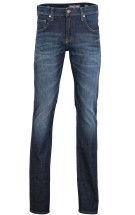 Mustang Chicago Tapered Pantalon 5-p Donkerblauw Effen Wijde fit