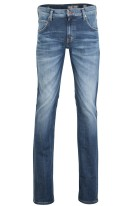 Mustang Pantalon 5-p Donkerblauw Effen Chicago Tapered