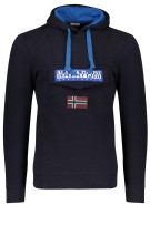 Napapijri hooded sweater Burgee donkerblauw