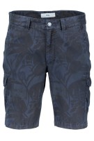 Navy Brax bermuda met print regular fit