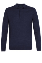 Navy polo lange mouwen Profuomo normal fit