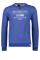 New Zealand Hawdon sweater ronde hals blauw