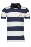 New Zealand Polo Shirt Donkerblauw Blauw Gestreept Normale fit
