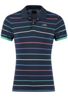 New Zealand Polo Shirt Donkerblauw Gestreept Normale fit