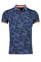 New Zealand Polo Shirt Donkerblauw Print Normale fit