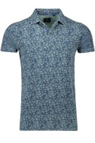 New Zealand Polo Shirt Groen Blauw Print Normale fit