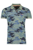 New Zealand Polo Shirt Groen Print Normale fit